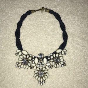 C Wonder navy rope necklace